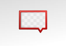 Red empty speech bubble on a metal background Stock Photography