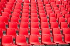 Red empty stadium seats Royalty Free Stock Photography