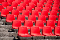 Red empty stadium seats Stock Image