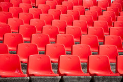 Red empty stadium seats Stock Photos