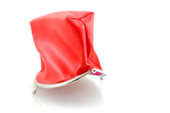 Red empty wallet royalty free stock images