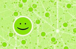 Red en línea del amigo del círculo social libre illustration