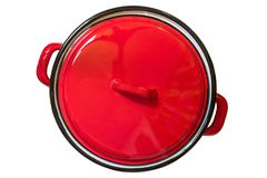 Enamel cooking pot Royalty Free Stock Photography