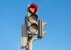 Free Red Enamoured Traffic Light Stock Photography - 29012192