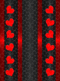 Red end black valentines day Stock Photography