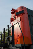Red end of railway locomotive Royalty Free Stock Photo