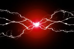Free Red Energy Electricity Plasma Power Crackling Fusion Stock Images - 141100854