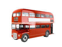 Red English bus Stock Photography