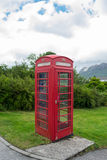 Red English telephone booth Royalty Free Stock Images
