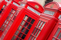 Red English telephone boxes Stock Photo