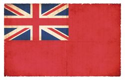 Red Ensign flag merchant flag of Great Britain. Red Ensign of Great Britain merchant flag created in grunge style Royalty Free Stock Photo