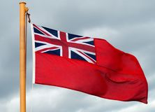 Red Ensign Flag. On Ship stock photos