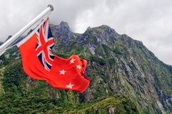 Red Ensign - Milford Sound Royalty Free Stock Image
