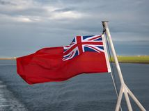 Red Ensign on Ship. A red Ensign on a Ship royalty free stock photography