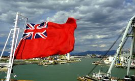 Red Ensign in the wind Royalty Free Stock Image