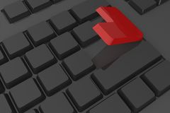 Red enter button on keyboard Stock Images