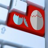 Red enter key on keyboard Royalty Free Stock Photos