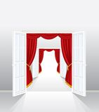 Red entrance Royalty Free Stock Photo