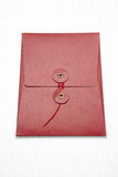 Red envelop on white Royalty Free Stock Images