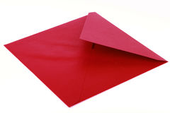 Red envelope. Open red envelope on white background royalty free stock photos