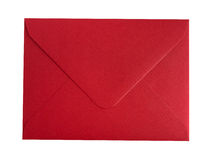 Red envelope. Isolated on a white background Royalty Free Stock Photography