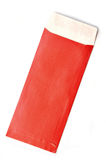 Red envelope. On white, with shadow Stock Image