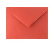 Red Envelope. A photo of a red envelope isolated over a white background Stock Photo