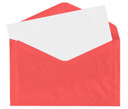 Red envelope with blank letter Stock Photos