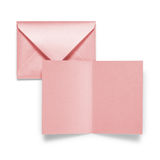 Red envelope with card Royalty Free Stock Images