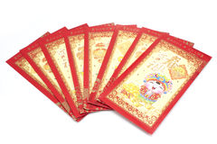 Red envelope chinese new year festival on white background Royalty Free Stock Photo