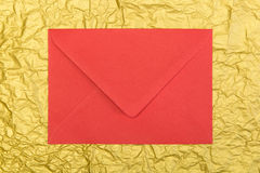 Red envelope, christmastime Royalty Free Stock Image