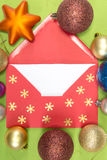 Red envelope, christmastime Stock Image