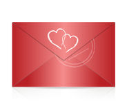 Red envelope illustration design Stock Photography