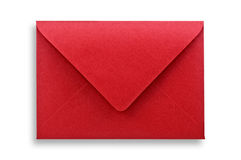 Red envelope isolated. Royalty Free Stock Photos