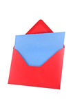 Red envelope isolated, path provided. Stock Photo