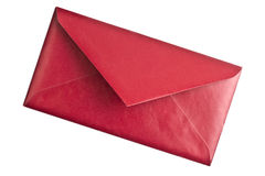 Red envelope isolated on white Royalty Free Stock Photo