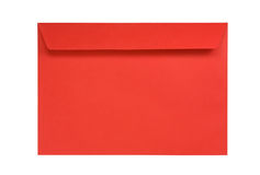Red envelope isolated on white Stock Image