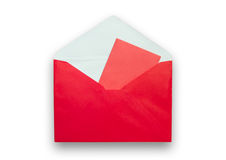 Red envelope isolated on white background Stock Images