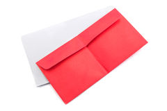 Red envelope isolated Royalty Free Stock Photo