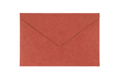 Red envelope made from natural fiber paper isolated on white bac Royalty Free Stock Image