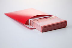 Red envelope with money Royalty Free Stock Photography