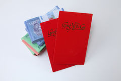 Red envelope with money Royalty Free Stock Photos