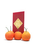Red Envelope and Tangerines Royalty Free Stock Photos