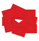 Red envelope on top vector Stock Photography