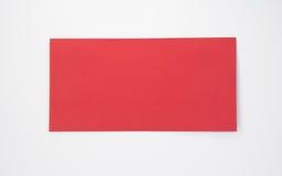Red envelope. On white background Royalty Free Stock Photos