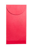 Red envelope on white background royalty free stock photography