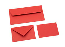 Red envelope. On a white background royalty free stock photography