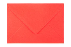 Red envelope on white background. Closed red envelope isolated on white background Stock Photography