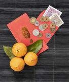Red envelopes for Happy Chinese New Year stock photo