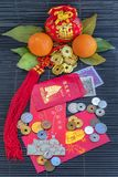 Red envelopes for Happy Chinese New Year royalty free stock photos